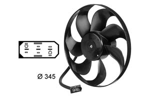 Ventilateur POLO4/GOLF4 PM