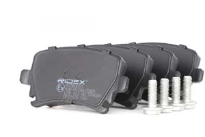 Kit de plaquettes de frein, frein à disque Essieu arrière RIDEX