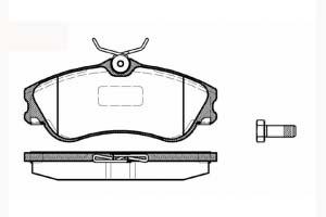 Kit de plaquettes de frein, frein à disque Essieu avant METZGER