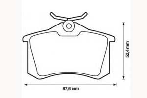 Kit de plaquettes de frein, frein à disque Essieu arrière JURID