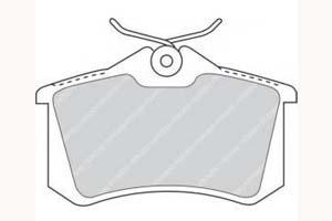 Kit de plaquettes de frein, frein à disque Essieu arrière FERODO