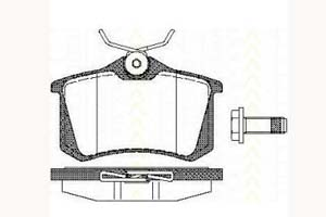 Kit de plaquettes de frein, frein à disque TRISCAN