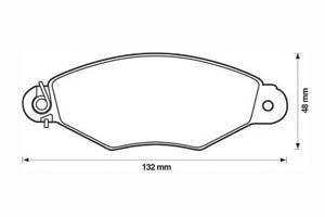 JURID Kit de plaquettes de frein, frein à disque Essieu avant