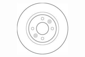DELPHI Disque de frein Essieu arrière, Ø: 280mm, plein